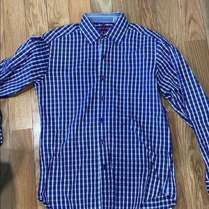 Robert Graham Long sleeve  purple/blue shirt.